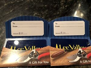 2 $100 gift cards to lee valley