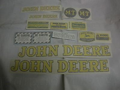 John Deere Mt Styled 1947-1952 Decal Set - Vinyl Cut New - Free Shipping