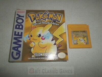 NEW BATTERY! Pokemon Yellow - GAME & BOX - NINTENDO Gameboy Advance  424