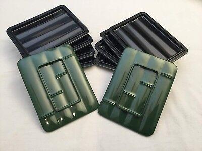 Black Sushi Tray (Sushi plate tray dish platter plastic black green Bamboo design set of 10 Lot )