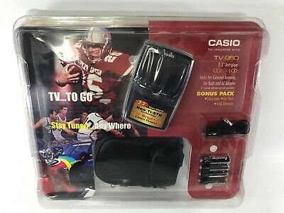 """CASIO TO GO TV-980 2/3"""" Anti-glare Color LCD Bonus Pack Case Ear Buds& Batteries"""