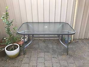 Outdoor Steel and Glass Dining Table Adelaide CBD Adelaide City Preview
