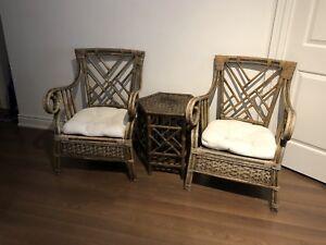 Pier 1 Wicker Patio set (chair & table)