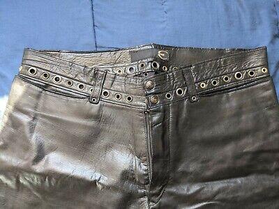 Just Cavalli Mens Black Leather Jeans