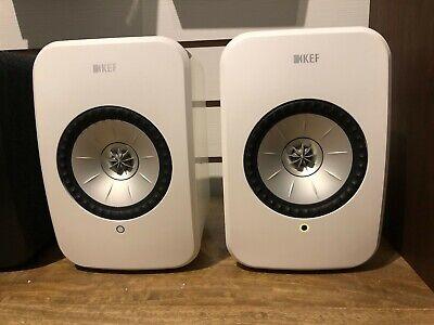 KEF LSX Wireless Bookshelf Speakers, Pair, Gloss White colour, Store Display