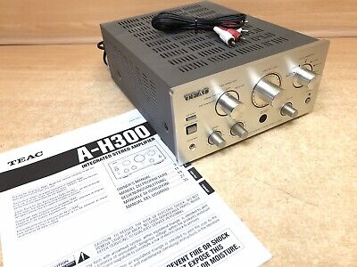 TEAC Audio Vintage Stereo A-H300 Integrated Amplifier Amp Silver Grey Phono