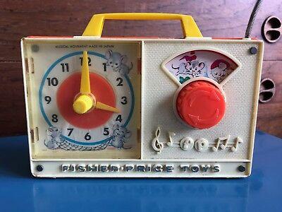 FISHER PRICE - Jouet ancien / Horloge - Hickory Dickory Dock - vintage 1971
