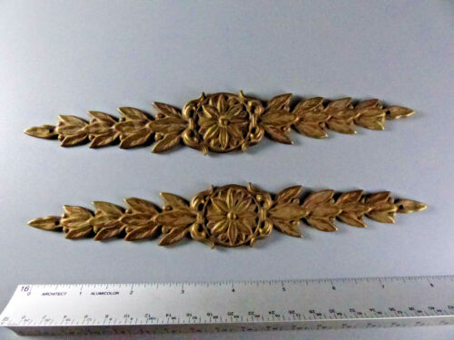 Pair of Solid Brass Furniture Ornament 8""