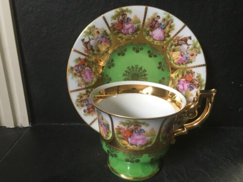 J.K.W Decor Carlsbad Cup, Saucer & Plate with beehive mark