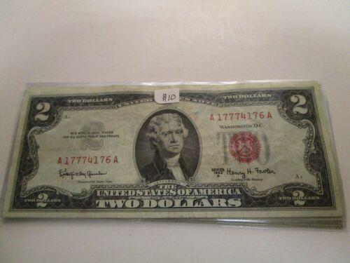 UNC. 1963 $2 RED SEAL UNITED STATES NOTE