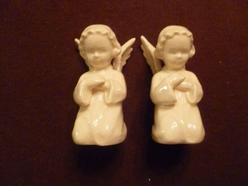 Pair Goebel Praying Angels 3 inch West Germany wing repaired
