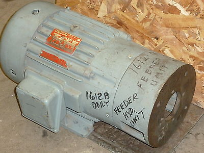 Nos Delco Electric Motor Whydraulic Pump Adapter Flange 3hp 3 Phase 1175 Rpm