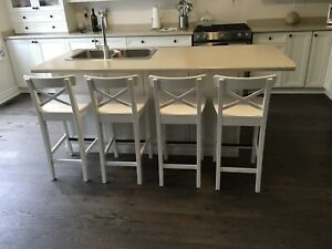 Kitchen island for sale, includes sink and counters