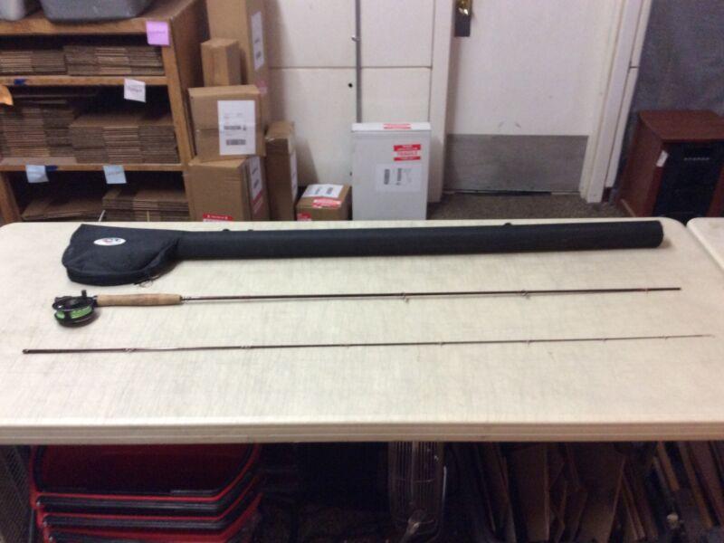 G Loomis Fly Rod 2PC 9' 6WT Rod W/STH Reel In Case