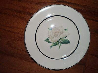 VOGUE  MANOR HOUSE SALAD PLATE;GOVERNOR'S MANSION WHITE ROSE;FEATHERWEIGHT CHINA China Manor House