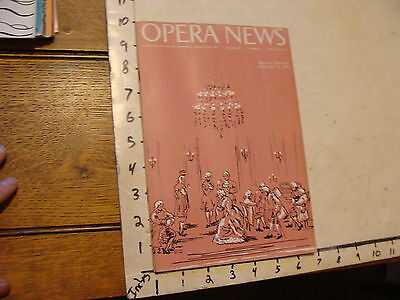 Vintage OPERA NEWS--january 12, 1959 Manon Lescaut