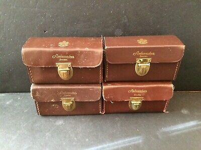 Abu Garcia Ambassadeur 5000 Leather Cases Lot of Four 4 Vintage Cases 1960's