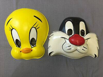 Looney Tunes Halloween Masks (LOONEY TUNES SYLVESTER & TWEETY SET HALLOWEEN MASKS PVC CHILD)