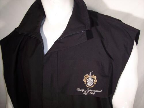 Zero Restriction XL Black Gore-Tex Rain Vest/Jacket Trump International Golf