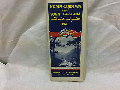 Vintage Standard Oil Company Pictorial Guide 1941 North Carolina South Carolina