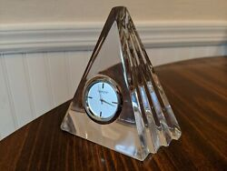 MARQUIS WATERFORD - Pyramid - Small Desk Clock - Lead Crystal - 125307