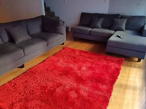 Red Soft Shaggy Rug in like new condition Surry Hills Inner Sydney Preview