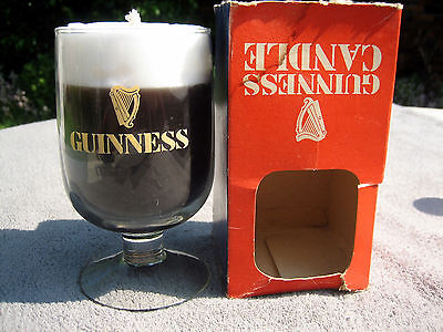 Vintage 1970s ? Guinness glass candle and box in nice condition