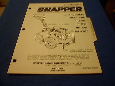 Drawer 22 Snapper Irt 4000 4001 4002b Rear Tine Tillers Parts Manual