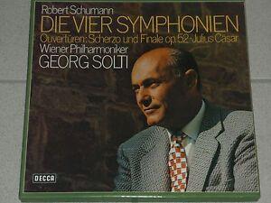 SCHUMANN - DIE VIER SYMPHONIEN - Wiener Philarmoniker - Decca - Italia - SCHUMANN - DIE VIER SYMPHONIEN - Wiener Philarmoniker - Decca - Italia