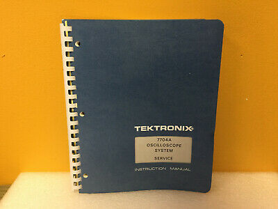 Tektronix 070-1260-00 7704a Oscilloscope Service Instruction Manual