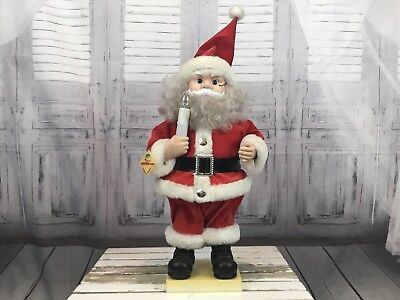 Mr. and Mrs. Claus Figurines Telcomotion-ette Animated AS IS Holiday Christmas