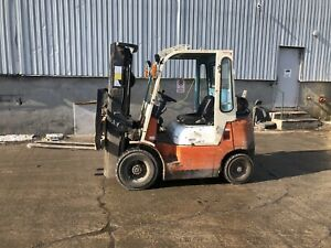 Pneumatic outdoor forklift Toyota  5000lbs side shift