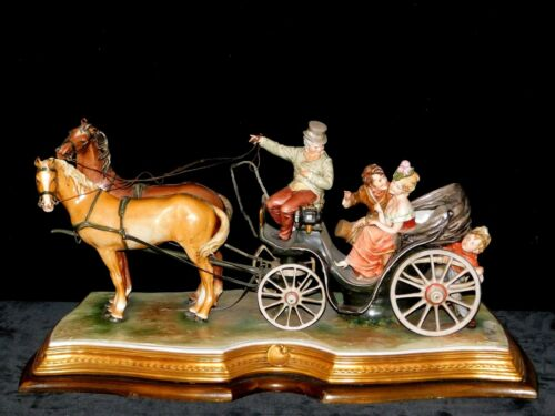 Rare Antique Large Capodimonte Porcelain Sculpture - Signed by Artist