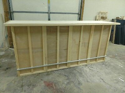 Home Bar Furniture, 72x24x42, Shelves & Storage, Seats 3, S&H Incl, Finish Avail