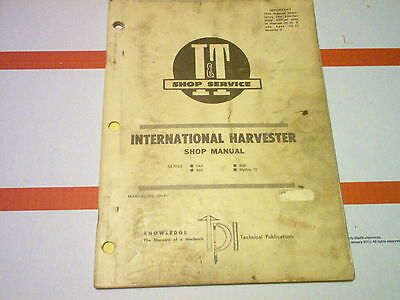 544 656 666 Hydro 70 Vintage International Harvester Tractor It Shop Manual