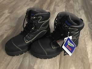 New steel toe lace up boots.