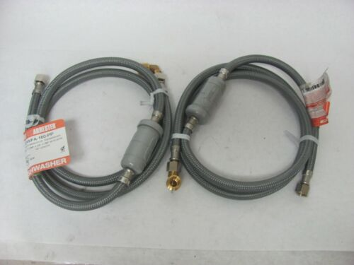 LSP DWFA-160-PP 3/8 comp x 3/8 comp w/CxFIP 90 Dishwasher Hose w/Arrester Qty 2