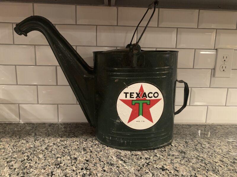 Vintage RARE Texaco Oil Advertising Watering Can! NICE!