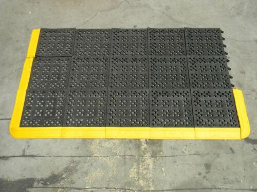 "Wearwell Modular Anti-Fatigue Mat 66"" x 39"" Wet / Dry PVC 544.58X39X66BYL"