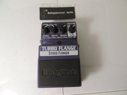 Digitech Turbo Flange Flanger Effects Pedal Free USA Shipping