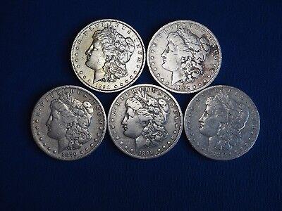 Lot of 2 Pre-1921 90/% Silver Morgan Dollar 1878-1904 Circulated