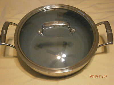 J.A. HENCKELS ZWILLING 4.6 QT CASSEROLE - STAINLESS STEEL AND NON-STICK