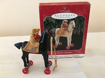 Hallmark 1998 A Pony for Christmas 1st Ornament - Colorway RARE