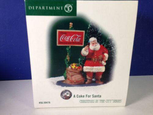 Dept 56 CIC Christmas in the City A COKE FOR SANTA 56.59476 Brand New!