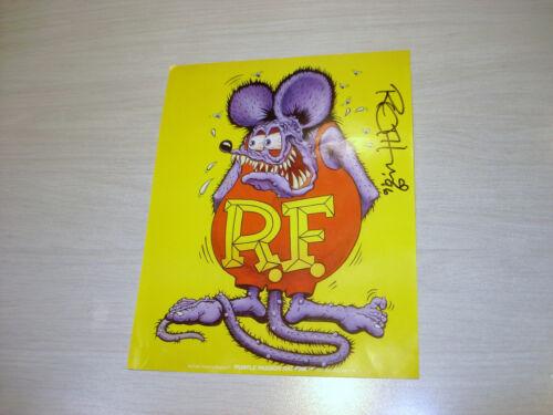 "ORIGINAL 1996 CAR SHOW  HAND SIGNED ED BIG DADDY ROTH  RAT FINK  8.25 "" x 6.50 """