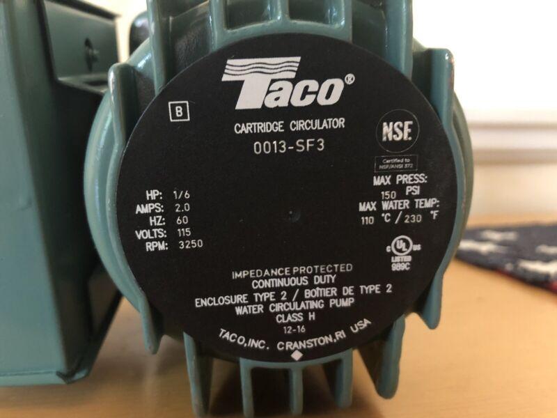 Taco 0013-SF3 Circulator - Stainless Steel 1/6 HP
