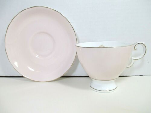 Vintage Susie Cooper Bone China England Cup and Saucer Wild Rose Pale Pink EUC