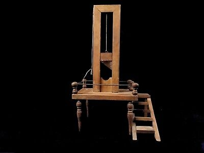 VERY NICE SCALE MODEL OF A FRENCH REVOLUTION GUILLOTINE 19TH CENTURY