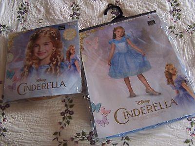 Cinderella Halloween Costume 3t (NIP Disguise DISNEY CINDERELLA Blue Halloween Costume XS 3T-4T & Blonde)