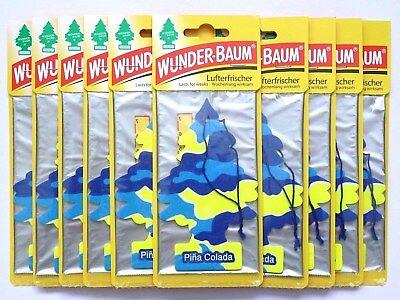 (1,28€/Einheit) 10 Stück WUNDER-BAUM® Pina Colada Duft Lufterfrischer Duftbaum - 3 Stück Office